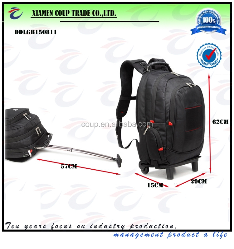 wholesale fashion business backpack waterproof bag travel trolley bags