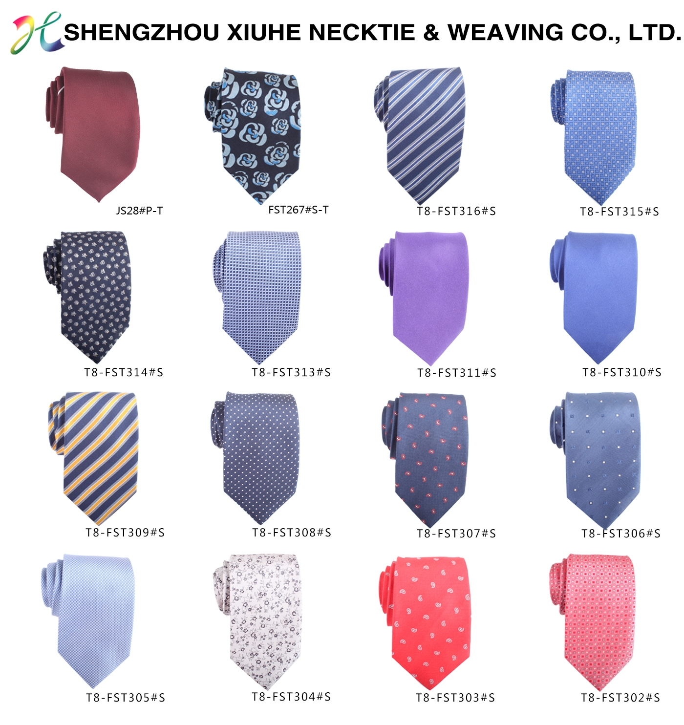 2020 OEM Service Colorful Jacquard Woven Mens Cheap Ties Polyester Necktie Floral Neck Tie for Custom
