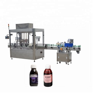 YB-YG4 automatic alcohol bottling equipment baby syrup filling capping machine 50ml 250ml