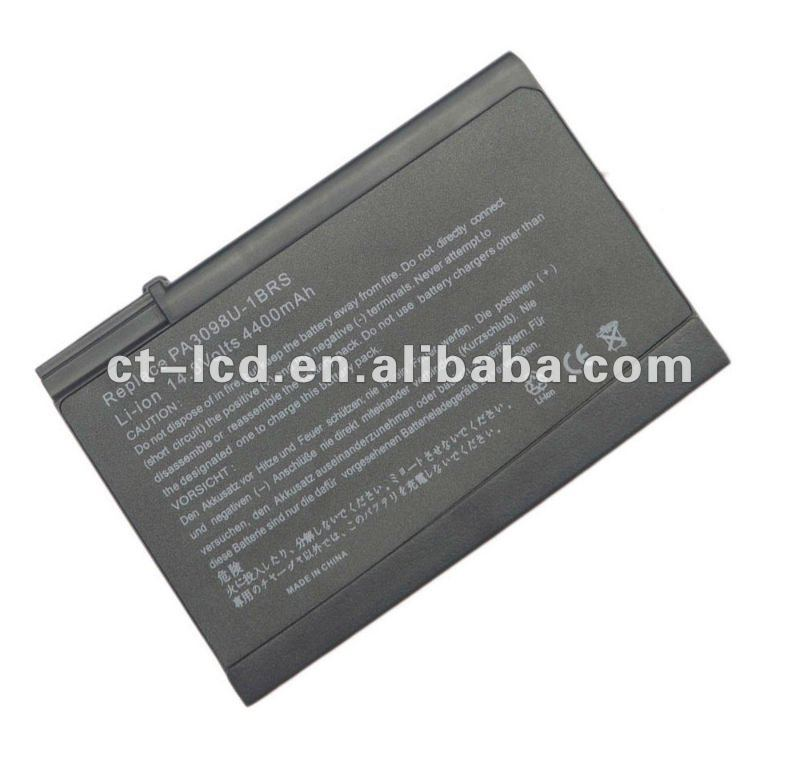 Laptop Battery For Toshiba Replace PA3098U-1BAS PA3098U-1BRS