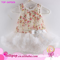 New Arrival Chiffon Tutu Dress Girls Dresses Baby TUTU rose floral Party dresses