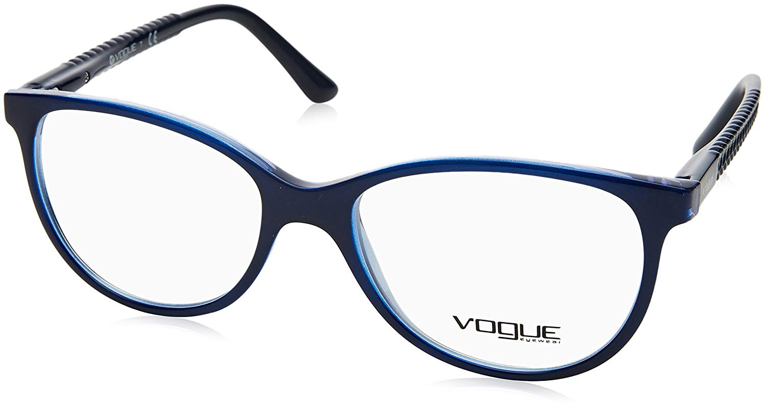 d1e74ee6eff Get Quotations · Vogue VO5030 Eyeglass Frames 2384-51 - Top Dark  Blue violet Transp