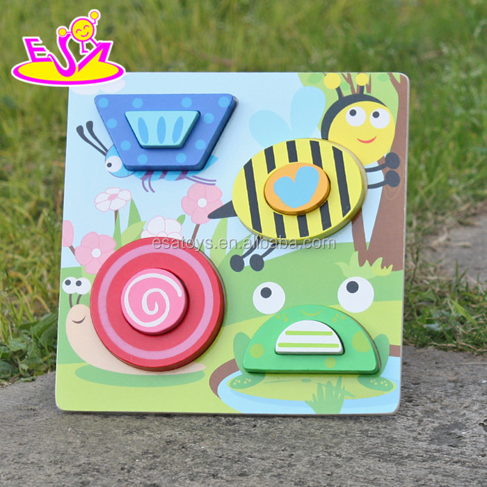 2017 New product diy animals wooden kids puzzle toy W14D027