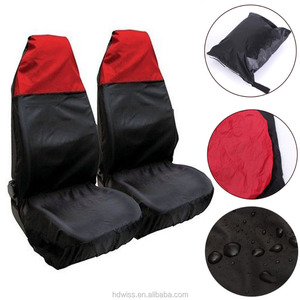 Wholesale 2x Universal Waterproof RED/BLACK Front Seat Covers/Protectors for Car/Van Seats