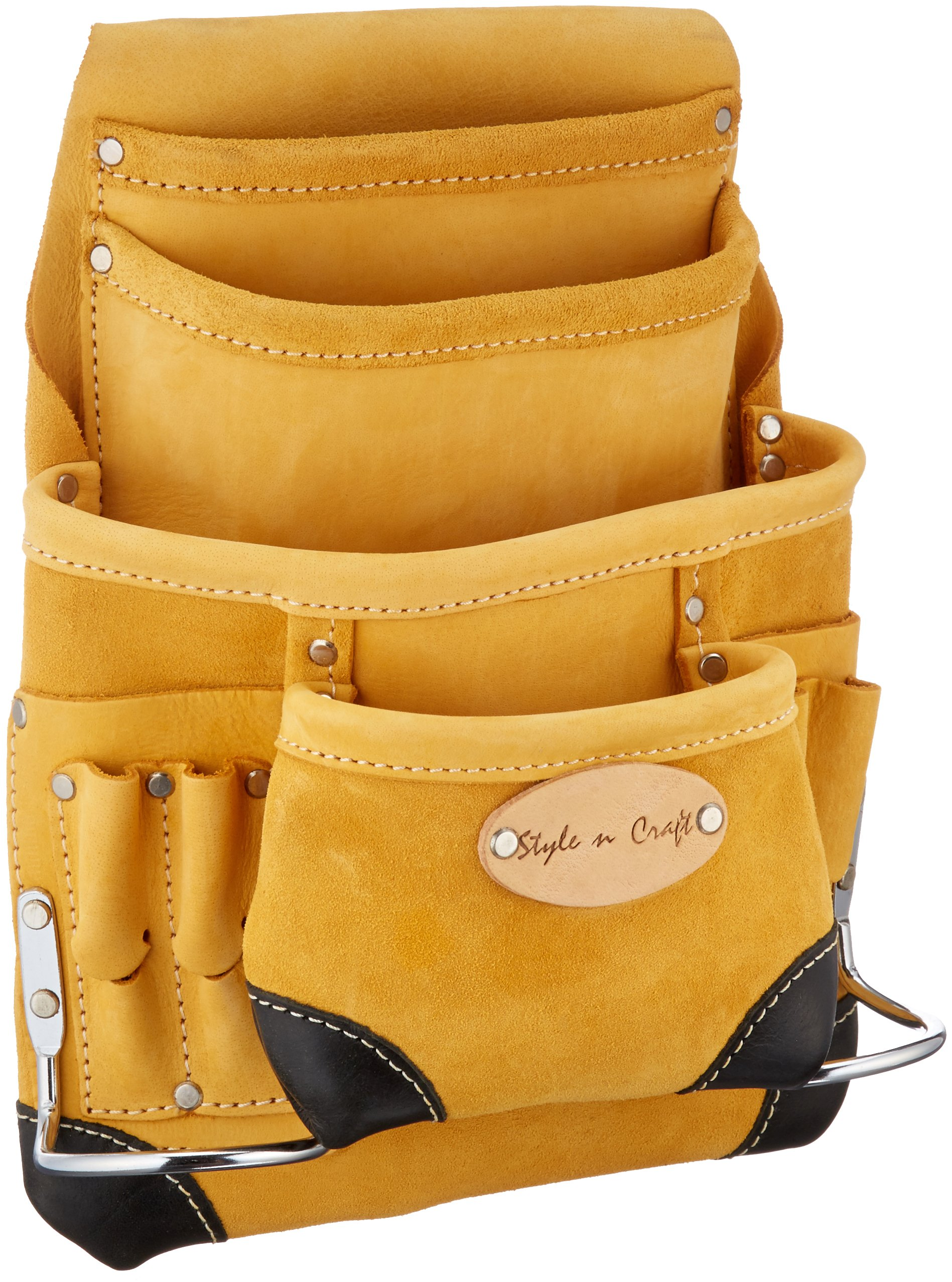 Get Quotations Style N Craft 93 923 10 Pocket Top Grain Tool Belt Pouch