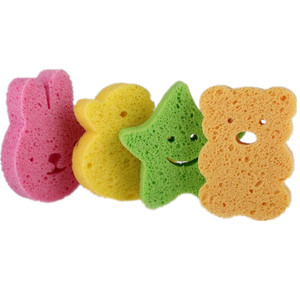 Cute Animal shaped baby cellulose sponge, bath sponge for kid