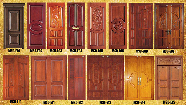 2016 modern home wooden flash door design india buy for Plain main door designs