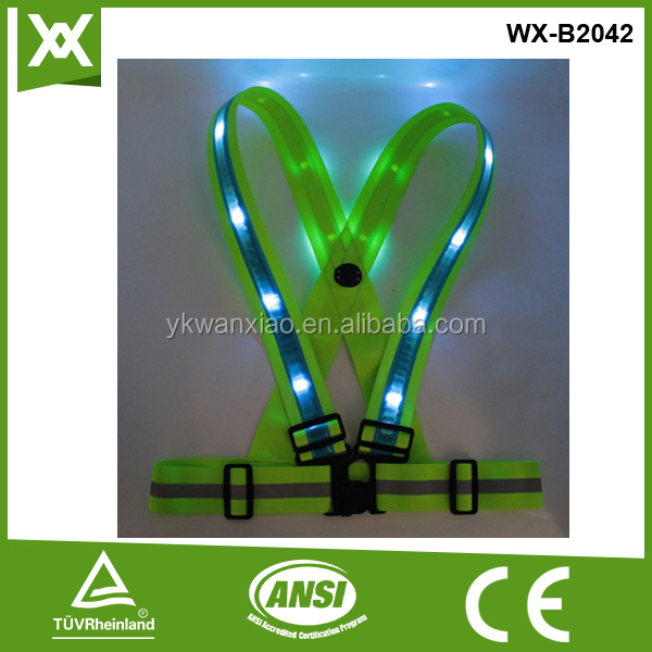 Various styles 100% polyester led training running reflective vest