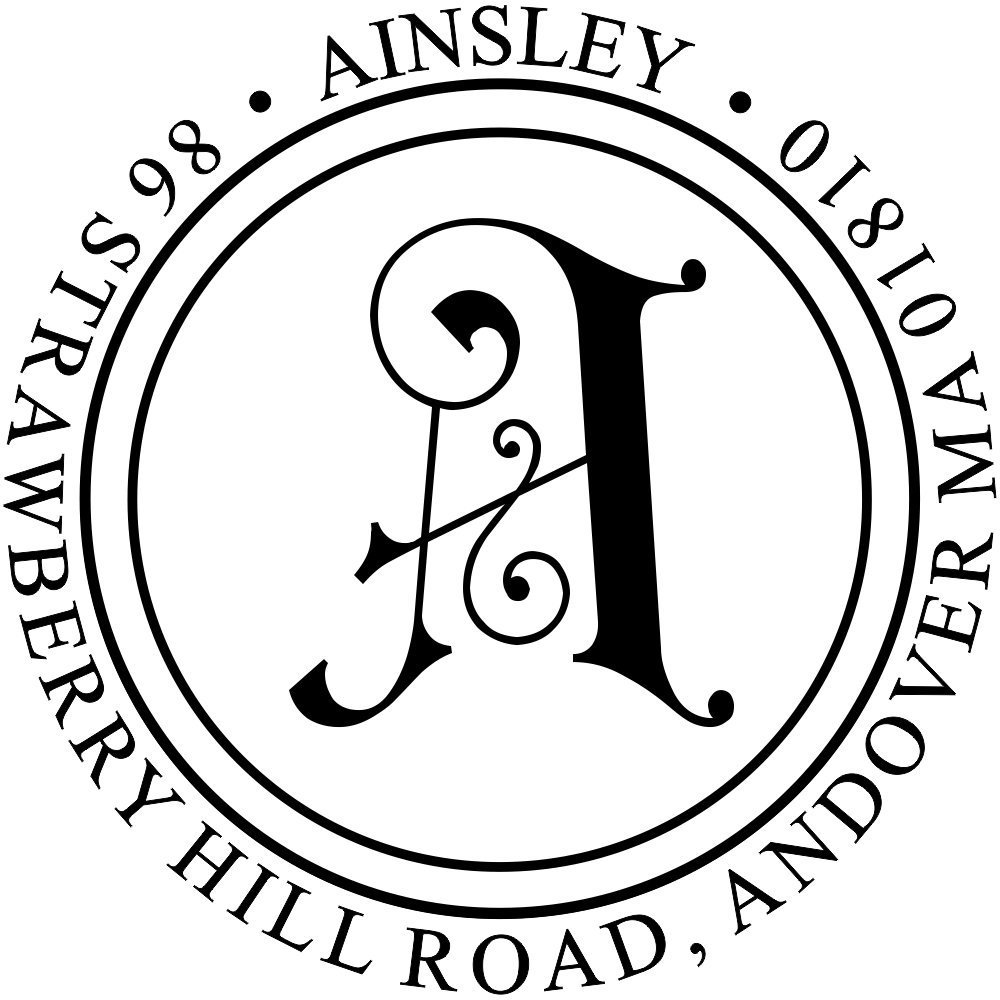 buy ainsley embellished monogram address stamp decorative address