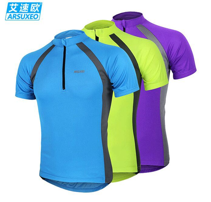 2015 ARSUXEO Sports Cycling Jerseys Bike Bicycle Short Sleeves MTB Clothing ride shirts wear.Mountain Bike Jersey Clothes 630