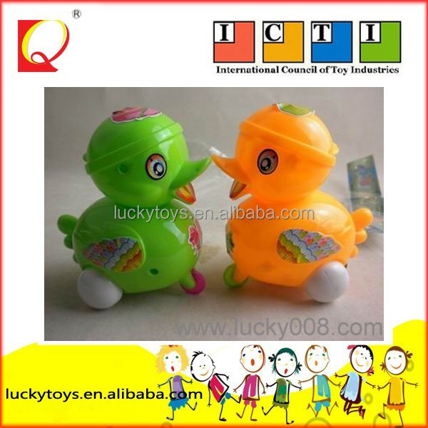 plastic pull line, funny duck hot selling toys pull line duck with en71 educational toys for kids