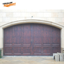 New Hot Sale Wooden Panels Remote Control Garage Door Solid Wood Garage Door