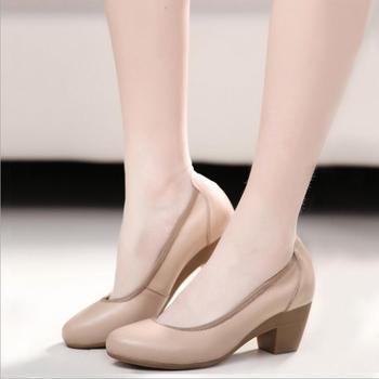 women' shoe middle heel shoes