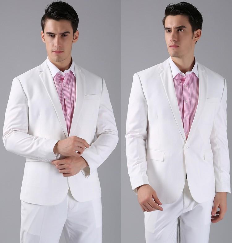 (Kurtki + Spodnie) 2016 Nowych Mężczyzna Garnitury Slim Fit Niestandardowe Garnitury Smokingi Marka Moda Bridegroon Biznes Suknia Ślubna Blazer H0285 43
