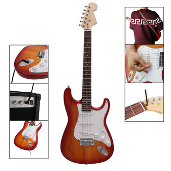 Wholesale Cheap China Electric Guitar Blue Color Oem Low Price Neck Maple For Electric Guitar