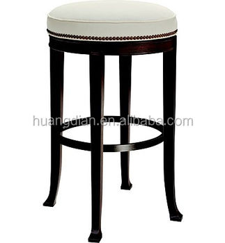 Hot Sale Rubber Ring Bar Stool Bar Chair With Wooden Legs