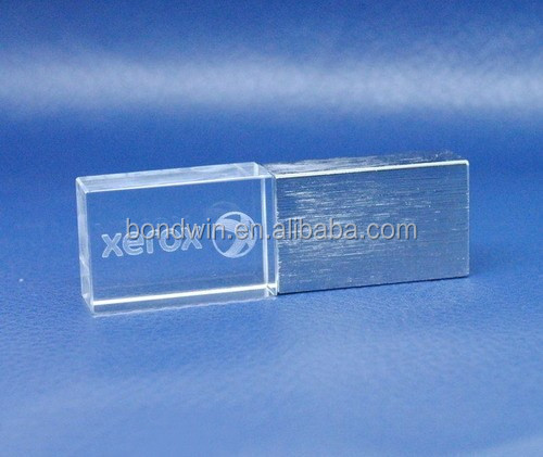 3d laser engraved logo crystal usb