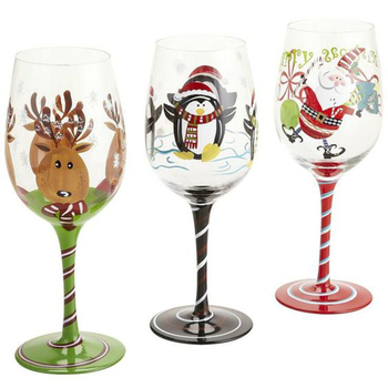 Custom Christmas Painted Wine Glasses Buy Unique Wine Glasses Hand Painted Wine Glasses Thick Wine Glasses Product On Alibaba Com