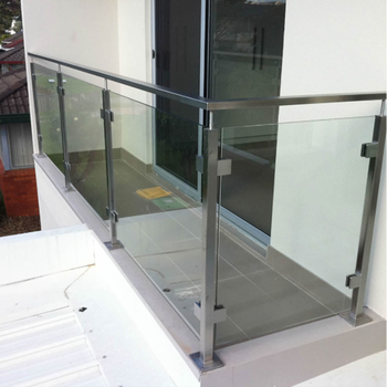 Square Pipe Tempered Glass Balcony Railing Designs - Buy ...