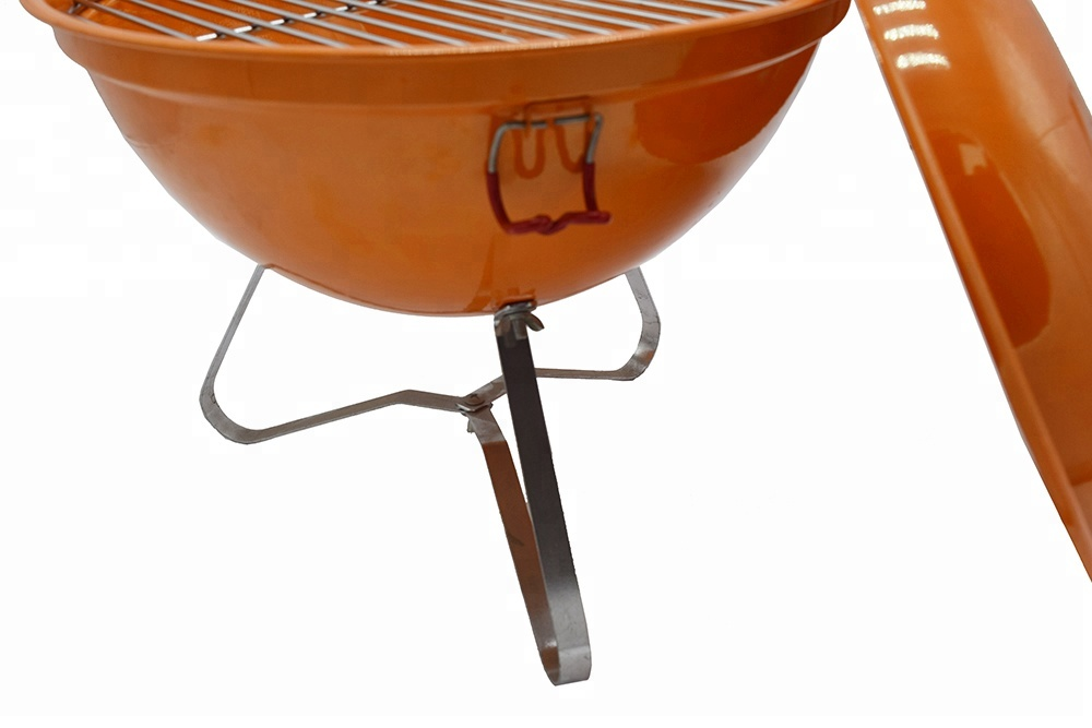 Portable BBQ round cast iron charcoal grill mini kettle tabletop bbq grill