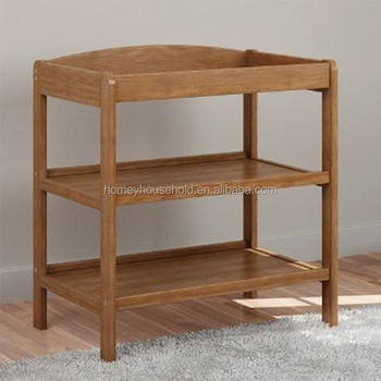 Wood Nursery Furniture Baby Changing Table Natural Style