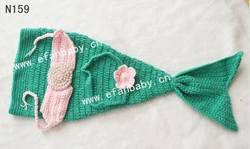 hand knitted crochet mermaid costume photo props for newborn & Hand Knitted Crochet Mermaid Costume Photo Props For Newborn - Buy ...