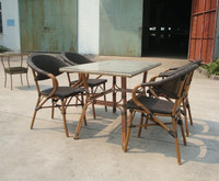 bamboo dining table chair set garden furniture as-6015 set