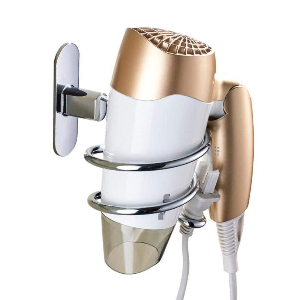 Hair Dryer Holder Rack Organizer,Ulifestar Wall Mounted Blow Dryer Hanger Shelf w// Plug Hooks for Bathroom Storage and Organization,Heavy Duty Stainless Steel