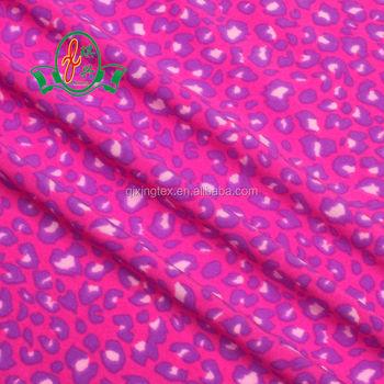 82 Polyester 18 Spandex Digital Lycra Pink Leopard Printed Fabric For Underwear