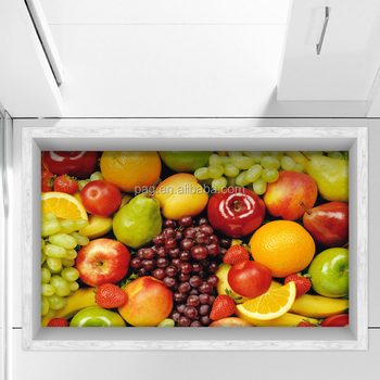 Pag Creative Custom Design Non Slip Kitchen Floor Mat Fruit Kitchen Wall  Tile Stickers