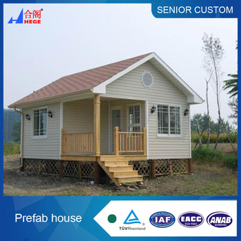Galvanized prefabricated light steel structure small house with cement sandwich panel board material steel houses