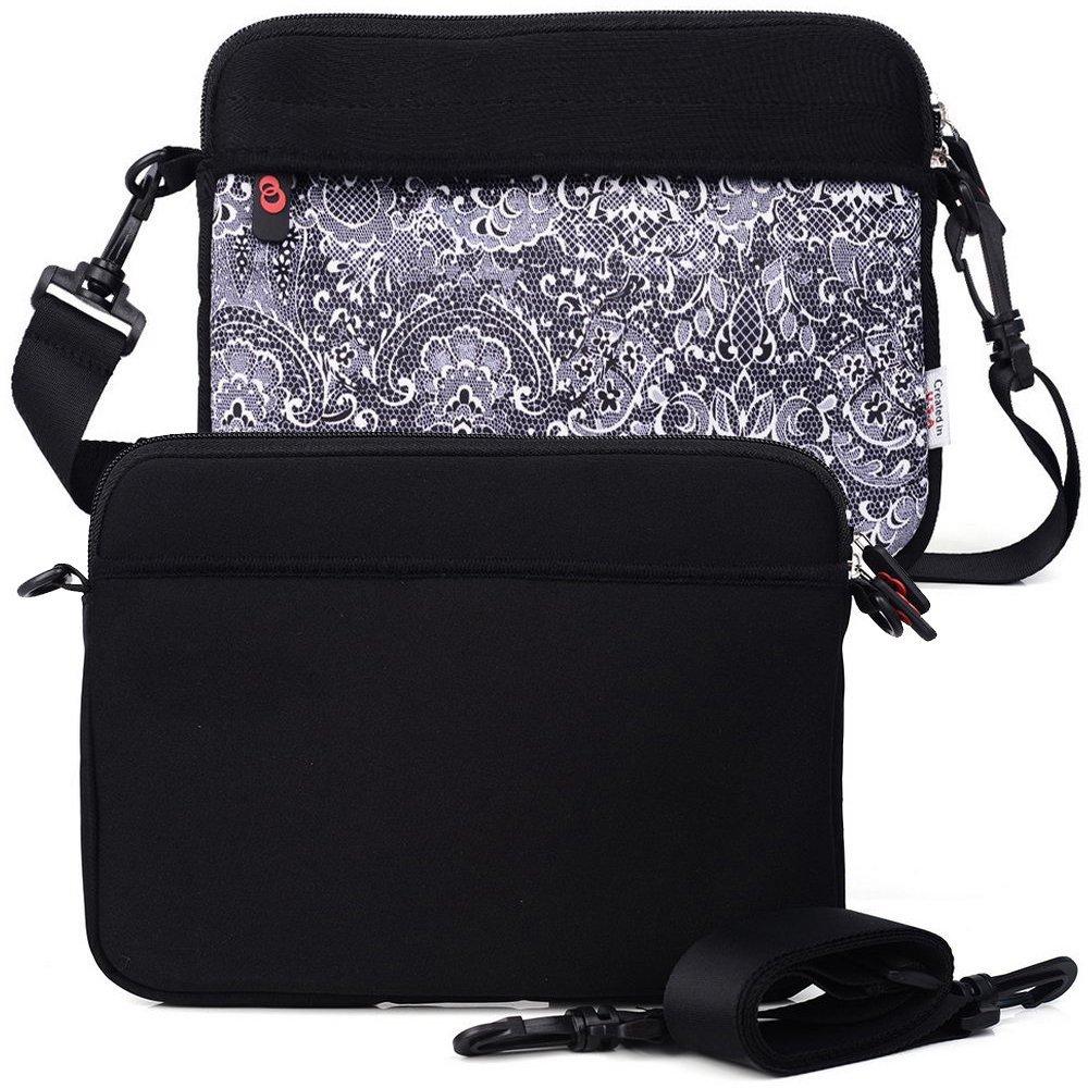 Comfort Black/Paisley College Bag W/Shoulder Strap fits Toshiba 13.3-inch Chromebook, Portege Z20T-C2121 12.5, Portege Z30-C1301 13.3 Laptop