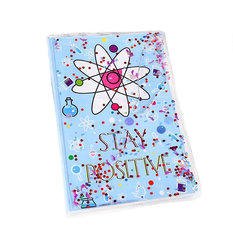 2020 Creative school kids cute pvc liquid notebook cartoon unicorn diary