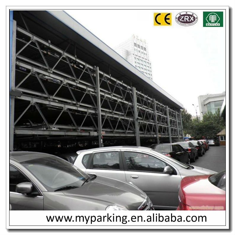 2-6 Floors Parking Lot Solutions Automated Liquid Crystal Display Car Elevator Parking System