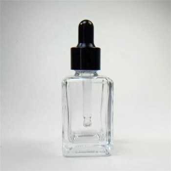 Wholesale 30ml clear hair oil glass bottle with dropper