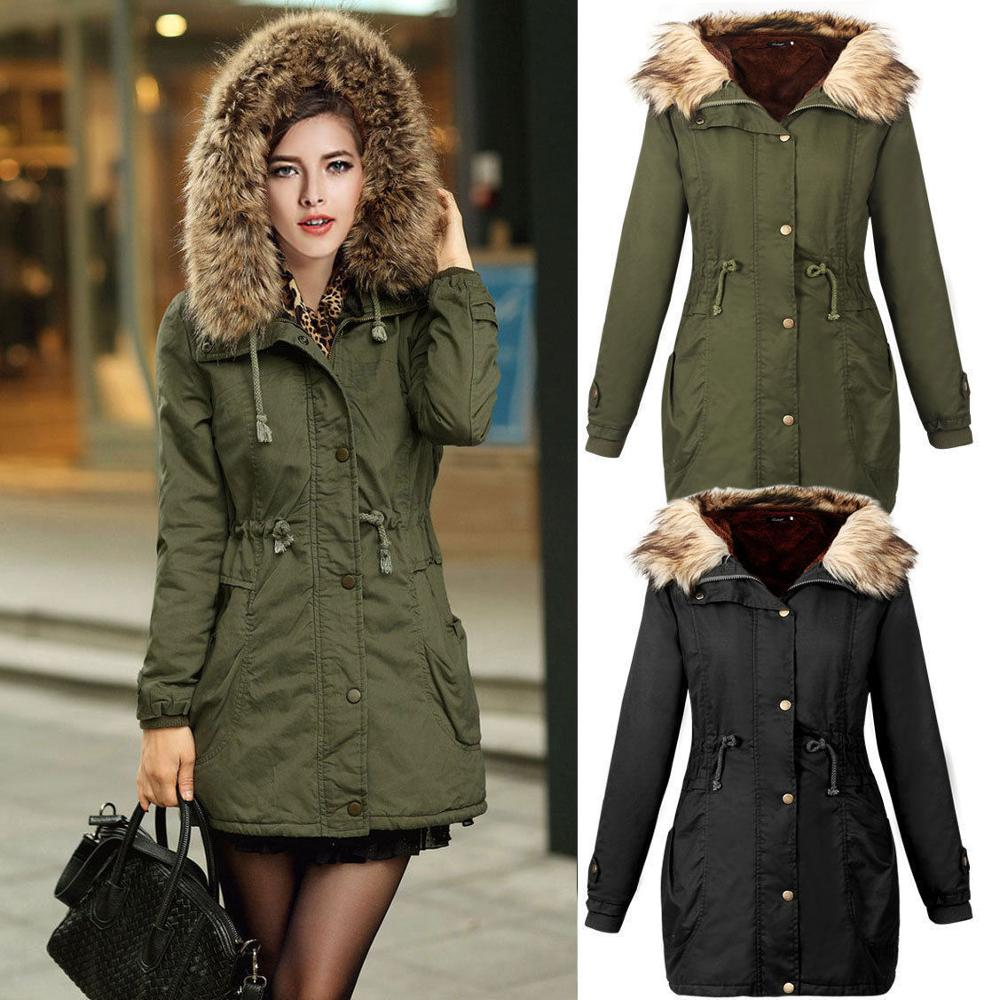 Walson Hot Winter Warm Donne Slim Cappotto Parka Cappotto Lungo Outwear