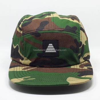 Camouflage flat hat hip-hop cap baseball cap 5 piece of melon is big head 979f32aaa80