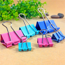Colorful Metal Binder Clips 15mm Notes Letter Paper Clip Office Supplies Color Random Office Binding Products