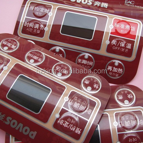 Color PC polycarbonate nameplate label with transfer tape for control panel