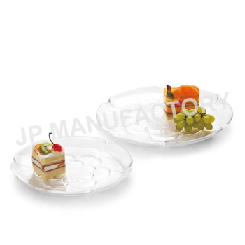 12\u0026quot; Crystal Clear Unbreakable Wedding and Party Food Grade Plastic Salad Dessert Round Plates  sc 1 st  Alibaba & 12\