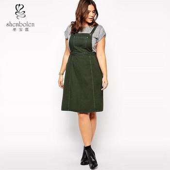 76a381e28 Ladies Knee Length Denim Pinafore Dress - Buy Denim Dress ...