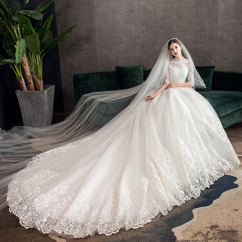 Vestido De Noiva Com Meia Manga De Atacado Compre Os
