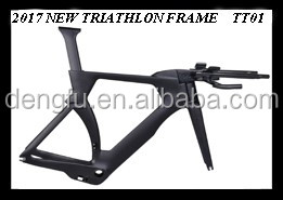 carbon triathlon ironman bicycle frame China,full carbon tt frame dengfubike tt01 bb86 di2 compatible bike battery design bike