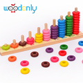 Kids toys Montessori 10 Level Clouds Computation Beads Wood Math Toy Educational Baby Toys Give your