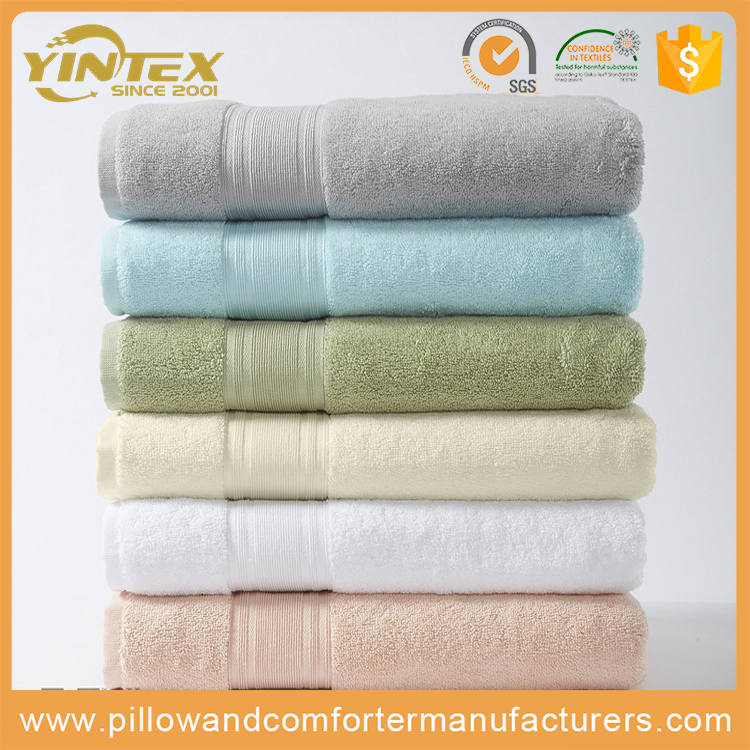 100% cotton / microfiber / bamboo fiber fabric color custom towel high quality soft hotel bath towel
