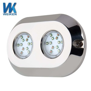 WEIKEN RGB 120w RGB IP68 LED marine light underwater boat/ship lights red,green, blue