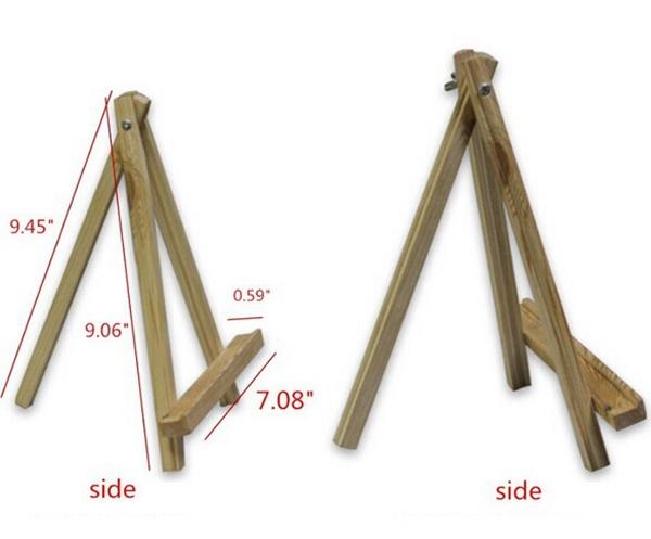 mini tr pied en bois chevalet pour artiste peinture croquis dessin stand pour tablet pc. Black Bedroom Furniture Sets. Home Design Ideas