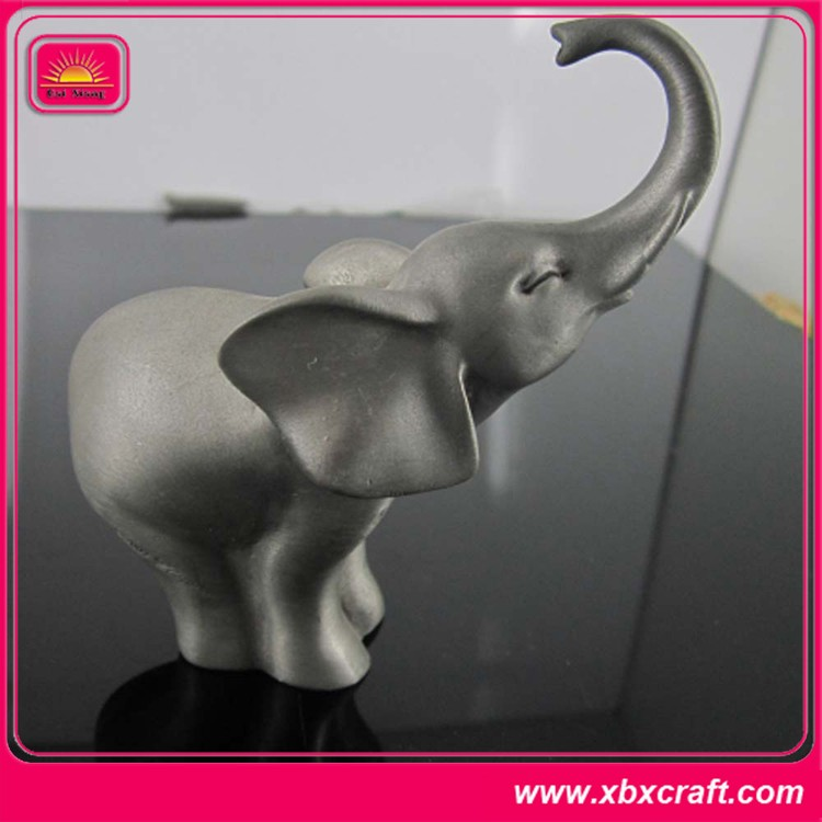 Small Elephant 3D Metal animal figurine, Indoor Metal Figurine