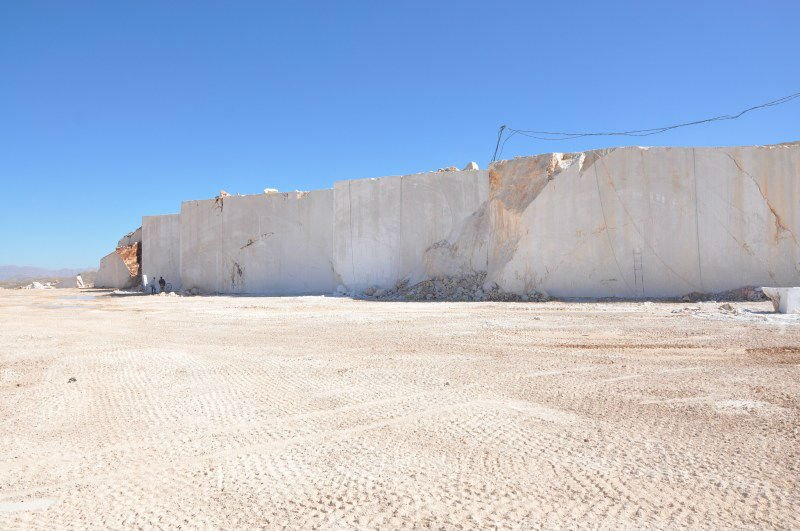 light beige marble quarry land