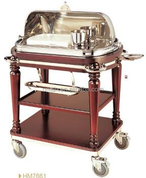 Deluxe Buffet Dining Cart Roast Beef Trolley